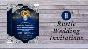 30 Rustic Wedding Invitations